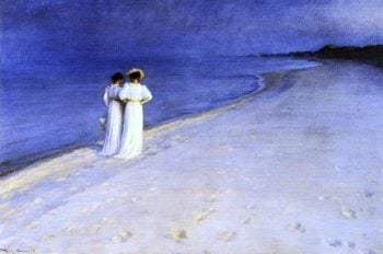 Summer Night on the South Beach at Skagen | Peder Severin Kroyer | oil painting