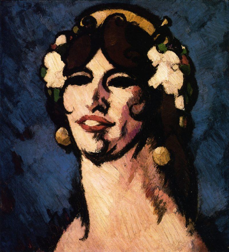 Margaret Morris dans Le Chant Hindu   John Duncan Fergusson   oil painting
