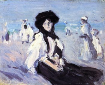 Paris Plage | John Duncan Fergusson | oil painting