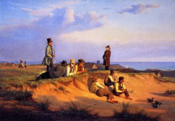 Men of Skagen on a Summer Evening in Good Weather | Martinus Rorbye | oil painting