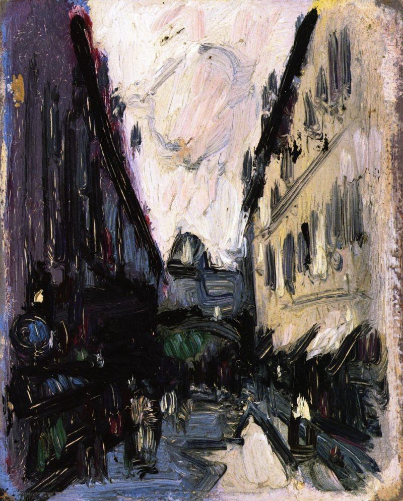 Paris Street Scene   John Duncan Fergusson   oil painting