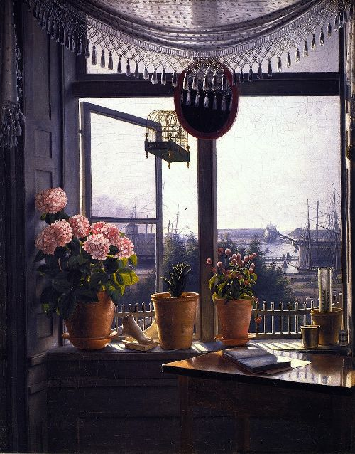 View from the Artists Window | Martinus Rorbye | oil painting