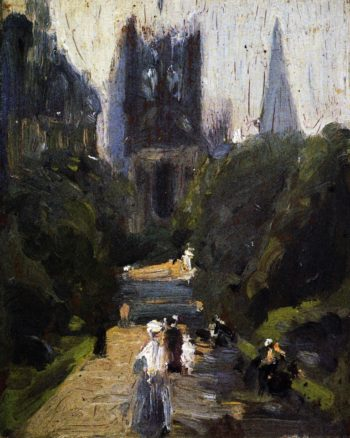 Princess Street Gardens Edinburgh | John Duncan Fergusson | oil painting