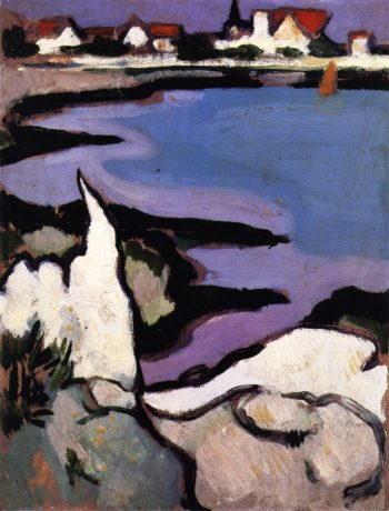 Rocks and a Bay | John Duncan Fergusson | oil painting