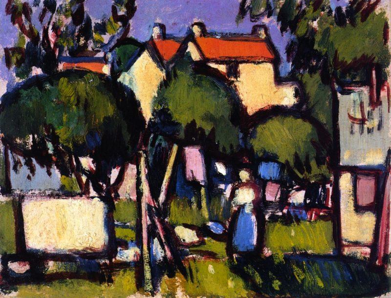 Roofs at Saintonge | John Duncan Fergusson | oil painting