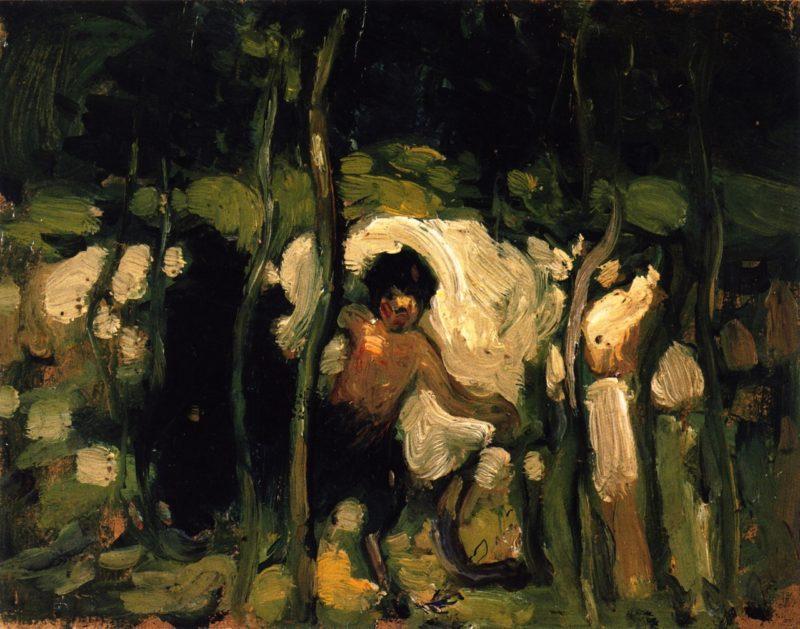 Satyr   John Duncan Fergusson   oil painting
