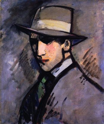 Self Portrait The Grey | John Duncan Fergusson | oil painting