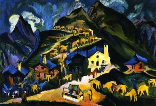 Albauftrieb | Ernst Ludwig Kirchner | oil painting
