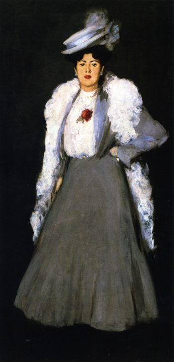 The Feather Boa | John Duncan Fergusson | oil painting