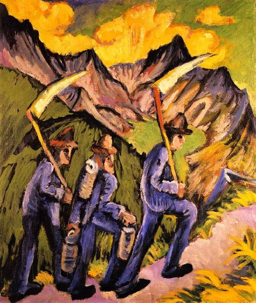 Alpine Life Triptych (left panel) | Ernst Ludwig Kirchner | oil painting