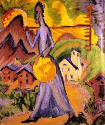 Alpine Life Triptych (right panel) | Ernst Ludwig Kirchner | oil painting