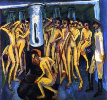 Artillerymen | Ernst Ludwig Kirchner | oil painting