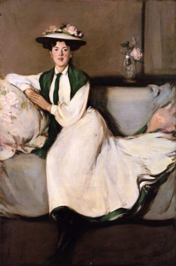 The White Dress Portrait of Jean | John Duncan Fergusson | oil painting