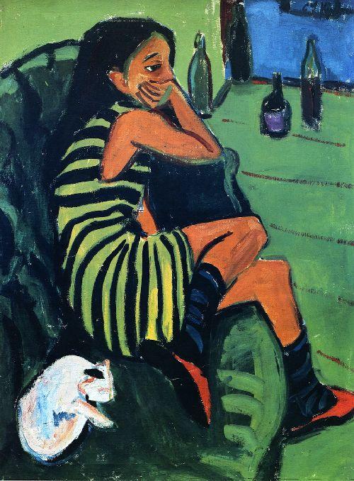 Artistin | Ernst Ludwig Kirchner | oil painting