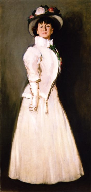 The White Ruff | John Duncan Fergusson | oil painting