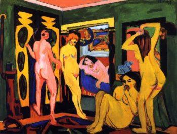 Badende im Raum | Ernst Ludwig Kirchner | oil painting