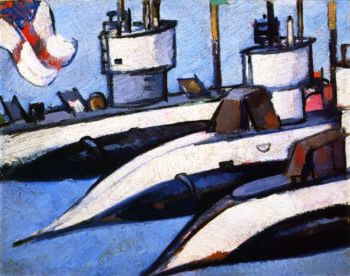 Three Submarines | John Duncan Fergusson | oil painting
