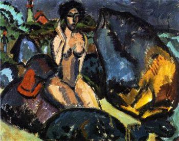 Badende zwischen Steinen | Ernst Ludwig Kirchner | oil painting