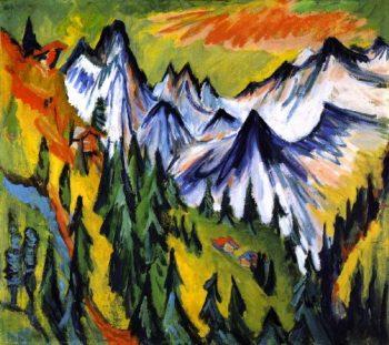 Berggipfel | Ernst Ludwig Kirchner | oil painting