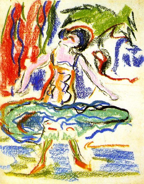 Cabaret Dancer | Ernst Ludwig Kirchner | oil painting