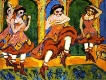 Czardastanzerinnen | Ernst Ludwig Kirchner | oil painting