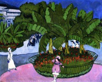 Das Boskett Albertplatz in Dresden | Ernst Ludwig Kirchner | oil painting