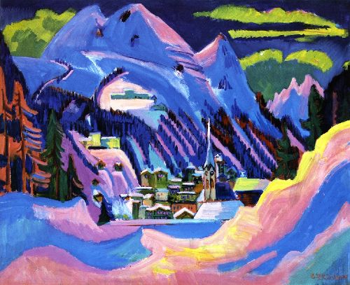 Davis im Schnee | Ernst Ludwig Kirchner | oil painting