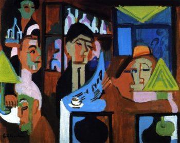 Davoser Cafe | Ernst Ludwig Kirchner | oil painting