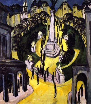 Der Belle Alliance Platz Berlin | Ernst Ludwig Kirchner | oil painting