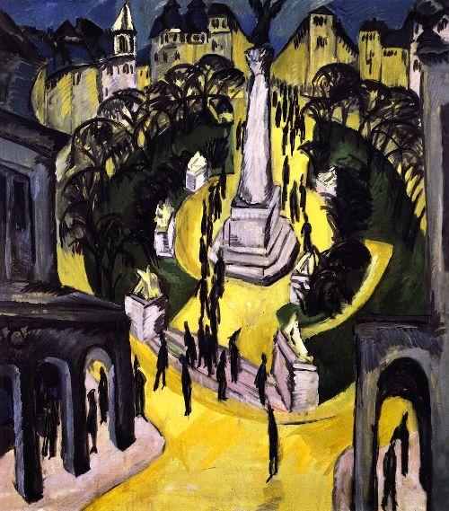 Der Belle Alliance Platz Berlin | Ernst Ludwig Kirchner | oil painting
