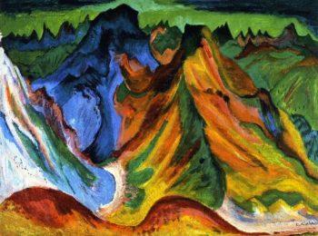 Der Bert Weiufluh und Schafgrind | Ernst Ludwig Kirchner | oil painting