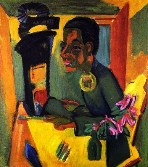Der Maler Selbstportrat | Ernst Ludwig Kirchner | oil painting