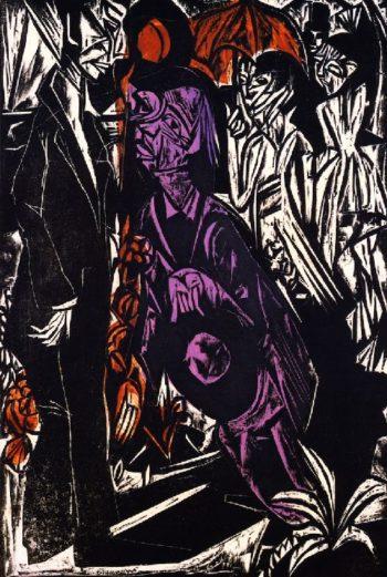Der Verkauf des Schatens | Ernst Ludwig Kirchner | oil painting