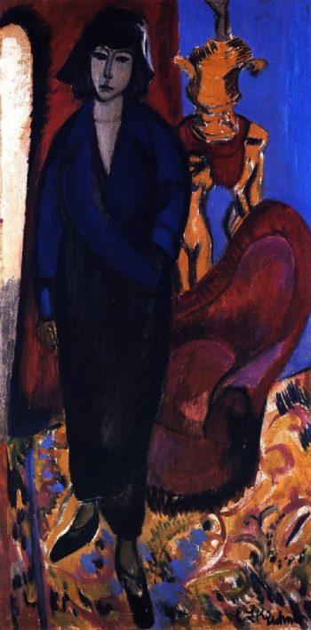 Die Russin | Ernst Ludwig Kirchner | oil painting
