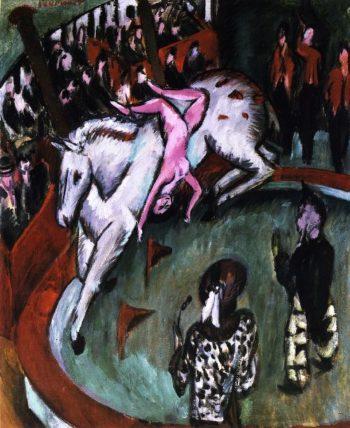 Die Zirkusreiterin | Ernst Ludwig Kirchner | oil painting
