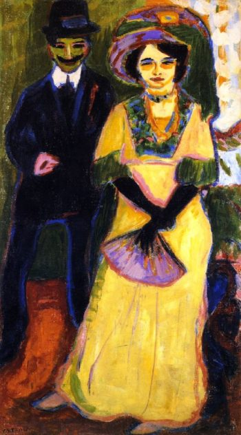 Dodo and Her Brother | Ernst Ludwig Kirchner | oil painting
