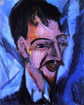 Dr Alfred Doblin | Ernst Ludwig Kirchner | oil painting