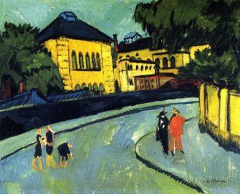 Dresden Friedrichstadt | Ernst Ludwig Kirchner | oil painting