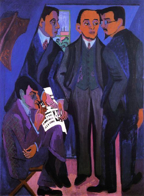 Eine Klunstlerruppe   Ernst Ludwig Kirchner   oil painting