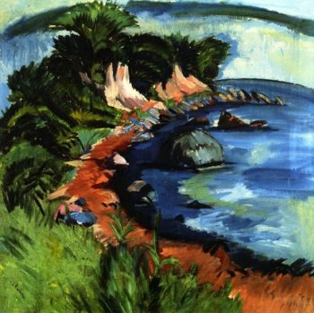 Fehmarn Coast   Ernst Ludwig Kirchner   oil painting