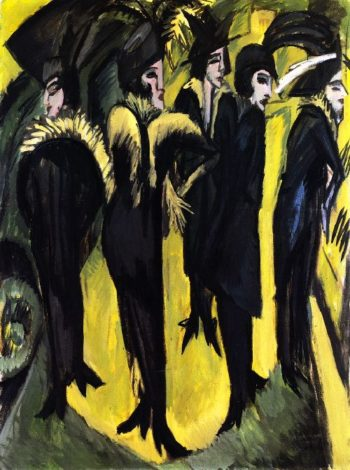 Five Women on the Street | Ernst Ludwig Kirchner | oil painting