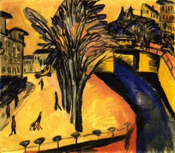 Gelbes Engelsufer Berlin | Ernst Ludwig Kirchner | oil painting