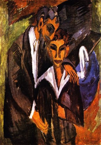 Graef and Friend | Ernst Ludwig Kirchner | oil painting