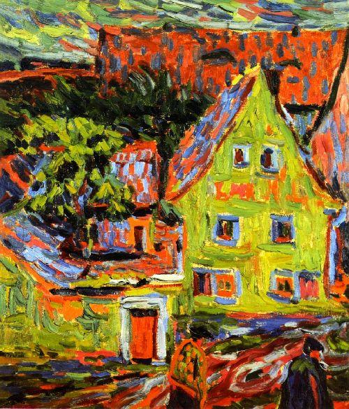 Grunes Haus   Ernst Ludwig Kirchner   oil painting