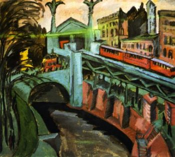 Hallesches Tor Berlin | Ernst Ludwig Kirchner | oil painting
