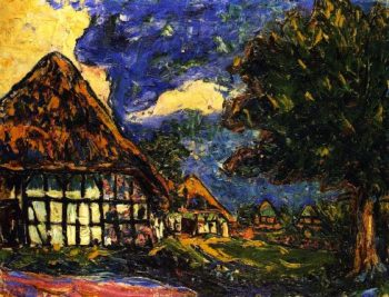 Hauser auf Fehmarn | Ernst Ludwig Kirchner | oil painting