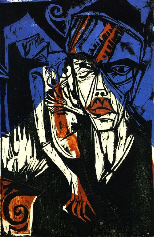 Kampfe   Ernst Ludwig Kirchner   oil painting