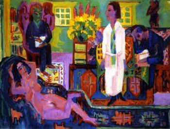 Moderne Boheme | Ernst Ludwig Kirchner | oil painting