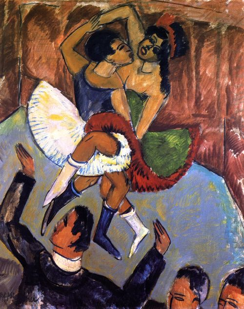 Negertanz | Ernst Ludwig Kirchner | oil painting