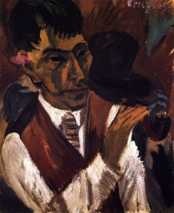 Otto Mueller with Pipe | Ernst Ludwig Kirchner | oil painting
